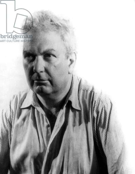Alexander Calder: Alexander Calder (1898-1976), was educated as an engineer, before he studied art in New York in the 1920s. After 1926, in France he was immersed in the Paris art world as he developed his unique approach to sculpture. 1947 portrait by Carl Van Vechten.