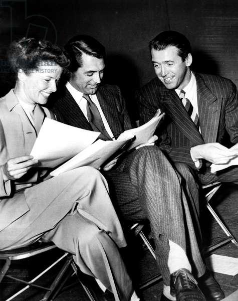 Hepburn, Grant, Stewart
