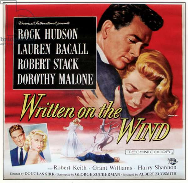 WRITTEN ON THE WIND, top from left: Rock Hudson, Lauren Bacall, bottom left from left: Robert Stack, Dorothy Malone, 1956.