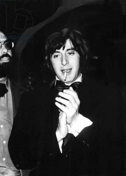 Francis Ford Coppola, Al Pacino at the premiere of GODFATHER, 1972