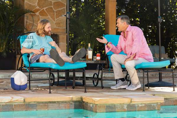 LODGE 49, from left: Wyatt Russell, Bruce Campbell, 'Something From Nothing', (Season 1, ep. 108, aired Sept. 24, 2018). photo: Jackson Lee Davis / ©AMC / courtesy Everett Collection