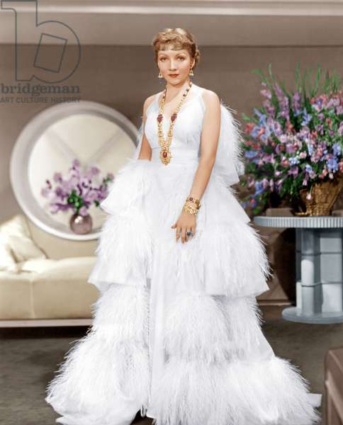 The Gilded Lily: THE GILDED LILY, Claudette Colbert, in a gown by Travis Banton, 1935