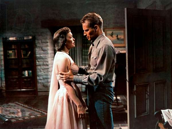 LUCY GALLANT, Charlton Heston, Jane Wyman, 1955