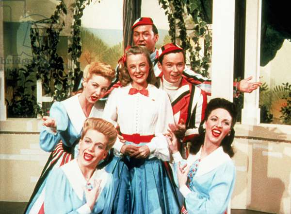 TILL THE CLOUDS ROLL BY, June Allyson (center) Ray McDonald (right), 1946