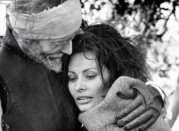 L'Homme de La Manche: MAN OF LA MANCHA, l-r: Peter O'Toole, Sophia Loren, 1972.