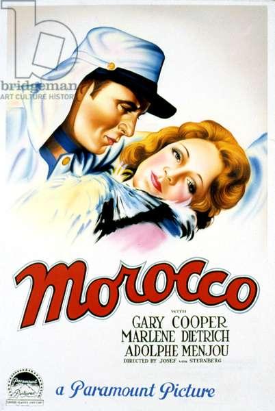 MOROCCO, Gary Cooper, Marlene Dietrich, 1930