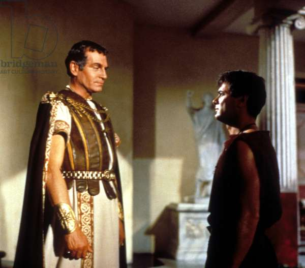 SPARTACUS, Laurence Olivier, Tony Curtis, 1960