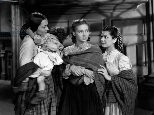 GONE WITH THE WIND, Olivia De Havilland, Evelyn Keyes, Ann Rutherford, 1939