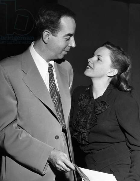 From left: director Vincente Minnelli, Judy Garland, ca. mid-late 1940s