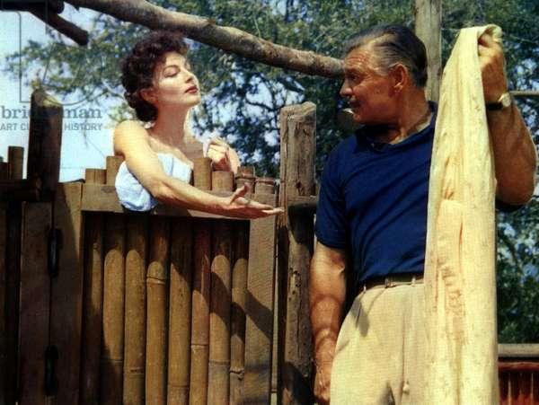 MOGAMBO, Ava Gardner, Clark Gable, 1953