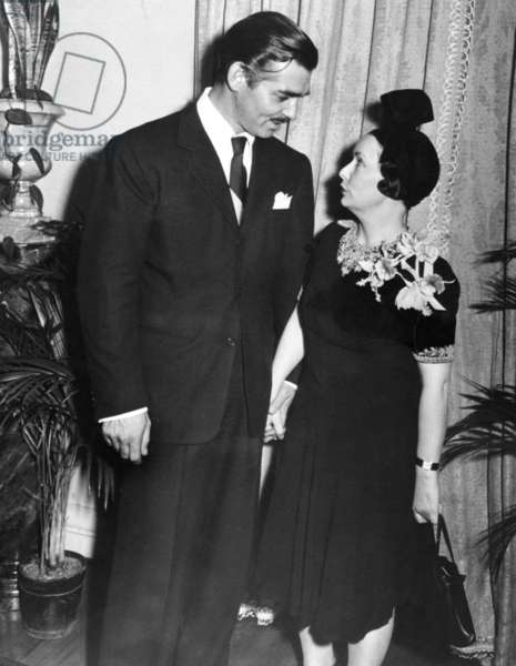 From left: Clark Gable, GONE WITH THE WIND author Margaret Mitchell, ca. 1939