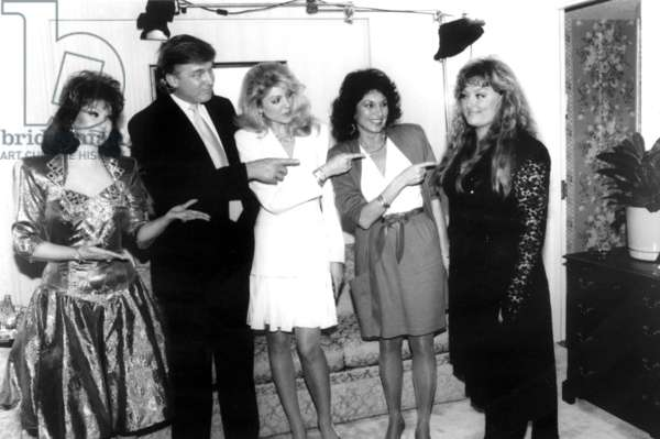 Naomi Judd, Donald Trump, Marla Maples, (Marla's Mom) Ann Ogletree, play a practical joke on Wynonna Judd, on SUPER BLOOPERS & NEW PRACTICAL JOKES, 5/5/1991. (c)NBC. Courtesy: Everett Collection.