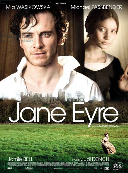 JANE EYRE, l-r: Michael Fassbender, Mia Wasikowska on French poster art, 2011, ©UGC/courtesy Everett Collection