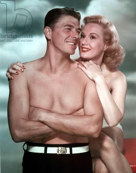 THE GIRL FROM JONES BEACH, Ronald Reagan, Virginia Mayo, 1949