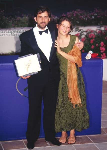 Nanni Moretti with Palme D'or at Cannes Film Festival 2001, by Thierry Carpico