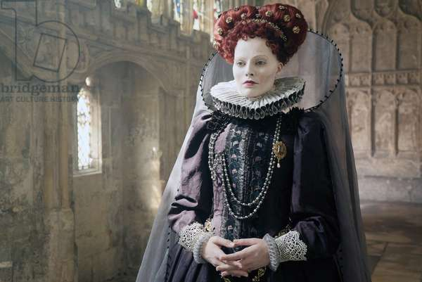 MARY QUEEN OF SCOTS, Margot Robbie as Queen Elizabeth I, 2018. ph: Liam Daniel. © Focus Features /Courtesy Everett Collection