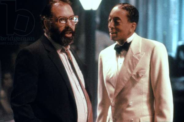 THE COTTON CLUB, Francis Ford Coppola and Gregory Hines on set, 1984, (c)Orion Pictures/courtesy Everett Collection
