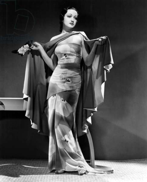 DOROTHY LAMOUR, Paramount Pictures, 1938; Lamour designed the gown herself