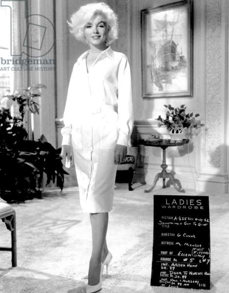 Marilyn Monroe: SOMETHING'S GOT TO GIVE, Marilyn Monroe, wardrobe test, 1962, TM and Copyright (c) 20th Century-Fox Film Corp. All Rights Reserved