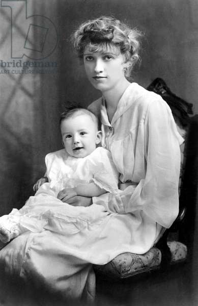 GREGORY PECK, one year old, with his mother, 1917