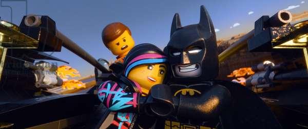THE LEGO MOVIE, from left: Emmet Brickowoski (voice: Chris Pratt), Wyldstyle (voice: Elizabeth Banks), Batman (voice: Will Arnett), 2014. ©Warner Bros. Pictures/courtesy Everett Collection