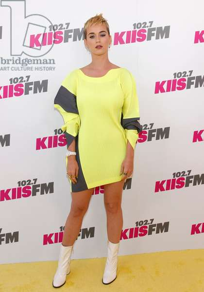 Katy Perry: Katy Perry (wearing an Issey Miyake dress) at arrivals for KIIS FM's Wango Tango - Arrivals, StubHub Center, Los Angeles, CA May 13, 2017. Photo By: JA/Everett Collection