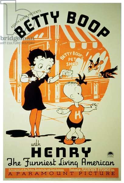Betty Boop, Henry, (poster art), 1930s