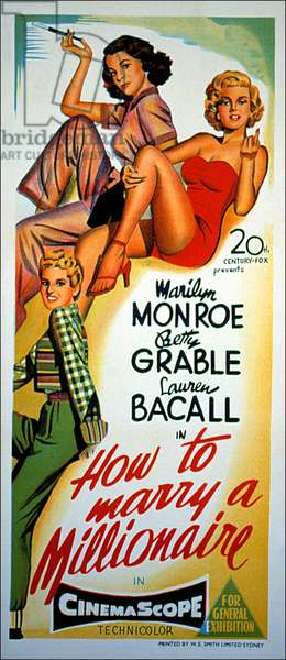 HOW TO MARRY A MILLIONAIRE, Betty Grable, Lauren Bacall, Marilyn Monroe, 1953, TM & Copyright (c) 20th Century Fox Film Corp. All rights reserved.