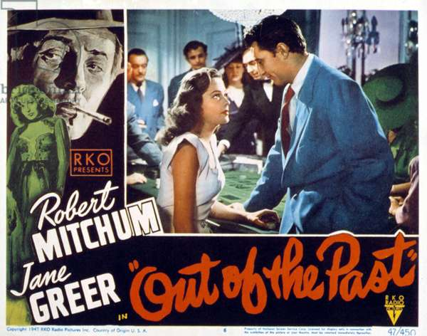 OUT OF THE PAST, Jane Greer, Robert Mitchum, 1947.