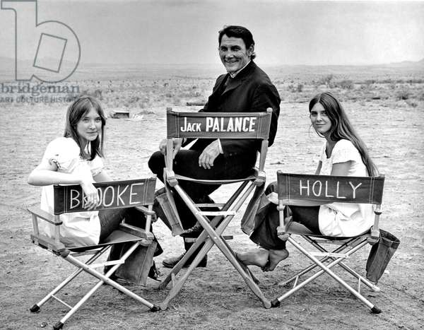 Jack Palance with daughters Brooke Palance and Holly Palance, 1969