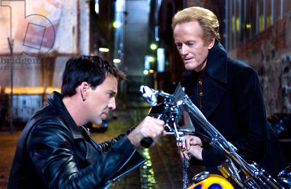 GHOST RIDER, Nicolas Cage, Peter Fonda, 2007. ©Columbia Pictures/courtesy Everett Collection