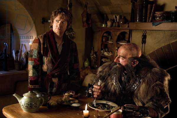Le Hobbit: Le Voyage Inattendu: THE HOBBIT: AN UNEXPECTED JOURNEY, from left: Martin Freeman, Graham McTavish, 2012. ph: James Fisher/©Warner Bros. Pictures/Courtesy Everett Collection
