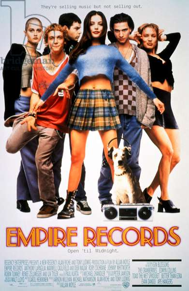 EMPIRE RECORDS: EMPIRE RECORDS, Robin Tunney, Ethan Randall, Rory Cochrane, Liv Tyler, Johnny Whitworth, Renee Zellweger, 1995, (c) Warner Brothers/courtesy Everett Collection