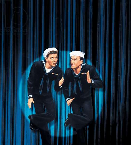 ANCHORS AWEIGH, Frank Sinatra, Gene Kelly, 1945.