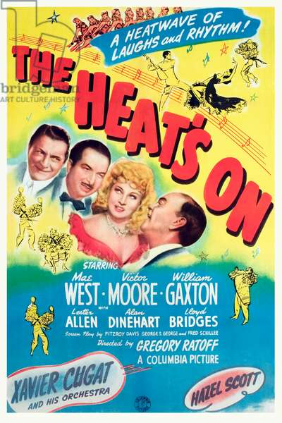 THE HEAT'S ON: THE HEAT'S ON, William Gaxton, Xavier Cugat, Mae West, Victor Moore, 1943.