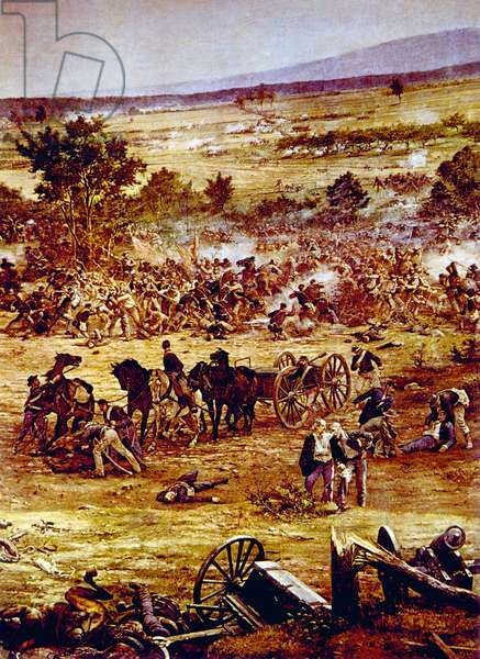 The Battle of Gettysburg, July, 1863