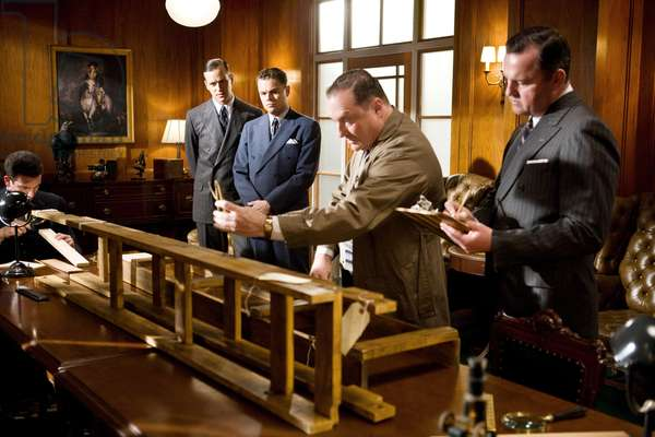 J.Edgar: J. EDGAR, center l-r: Armie Hammer (as Clyde Tolson), Leonardo DiCaprio (as J. Edgar Hoover), Stephen Root (as Arthur Koehler), 2011, ph: Keith Bernstein/©Warner Bros. Pictures/courtesy Everett Collection