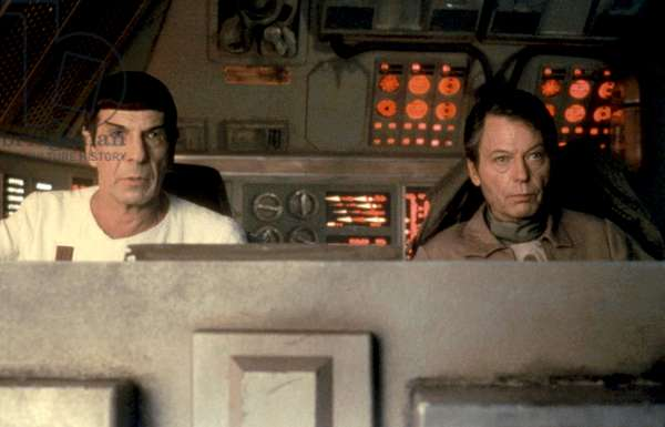 STAR TREK IV: THE VOYAGE HOME, Leonard Nimoy, DeForest Kelley. 1986. ©Paramount/courtesy Everett Collection