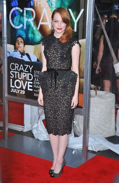 Emma Stone (wearing a Tom Ford dress) at arrivals for Crazy, Stupid, Love. Premiere, The Ziegfeld Theatre, New York, NY July 19, 2011. Photo By: Gregorio T. Binuya/Everett Collection