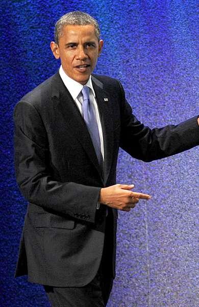 Barack Obama: Barack Obama at a public appearance for 2011 Clinton Global Initiative, Sheraton Hotel, New York, NY September 21, 2011.