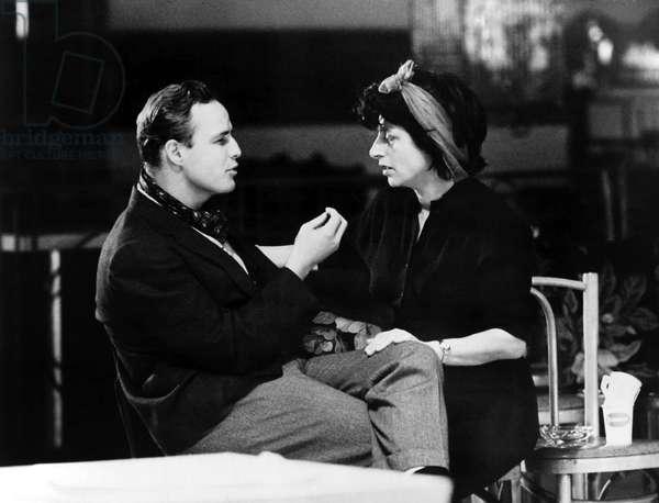 Marlon Brando et Anna Magnani