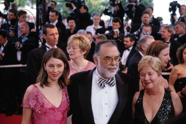 Francis Ford Coppola with his wife Eleanor and Sofia at the Cannes Film Festival, May 2001, by Thierry Carpico.