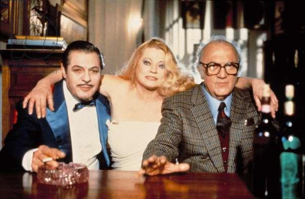 INTERVISTA, Marcello Mastroianni, Anita Ekberg, Federico Fellini 1987.