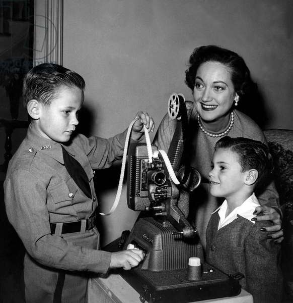 DOROTHY LAMOUR, with children