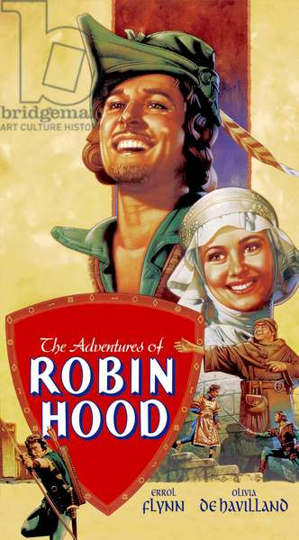 Les aventures de Robin des bois: THE ADVENTURES OF ROBIN HOOD, Errol Flynn, Olivia De Havilland, 1938