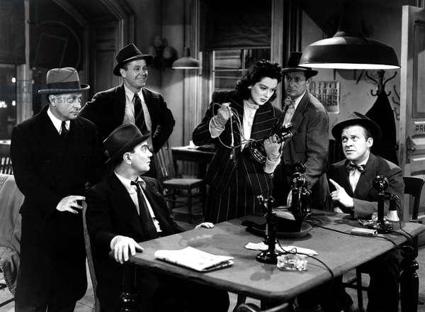 His Girl Friday, Ernest Truax, Regis Toomey, Cliff Edwards, Rosalind Russell, Roscoe Karns, Frank Jenks, 1940