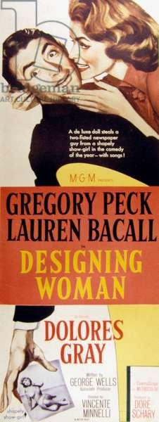 DESIGNING WOMAN, Gregory Peck, Lauren Bacall, 1957.