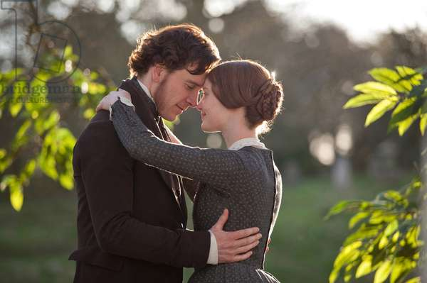 Jane Eyre: JANE EYRE, from left: Michael Fassbender, Mia Wasikowska, 2011. ph: Laurie Sparham/©Focus Features/Courtesy Everett Collection