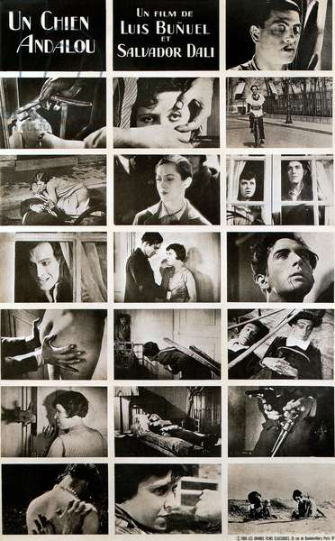 UN CHIEN ANDALOU: UN CHIEN ANDALOU, (aka AN ANDALUSIAN DOG), Simone Mareuil (second row from bottom left), Pierre Bacheff (4th row from bottom right), 1929