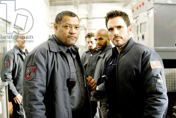 ARMORED, from left: Jean Reno, Laurence Fishburne, Skeet Ulrich, Amaury Nolasco, Matt Dillon, 2009. ph: Lacey Terrell/©Screen Gems/Courtesy Everett Collection